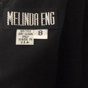 Melinda Eng Dresses - Melinda Eng Evening Black Silk Evening Gown